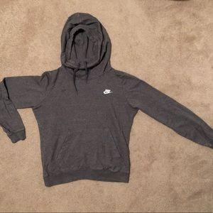 Nike: Grey Hoodie Sweatshirt